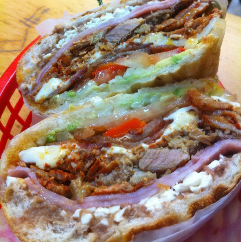 Torta De La Casa at Puebla Mini Market / Tortas a la Plancha Don Pepe on #foodmento http://foodmento.com/place/950