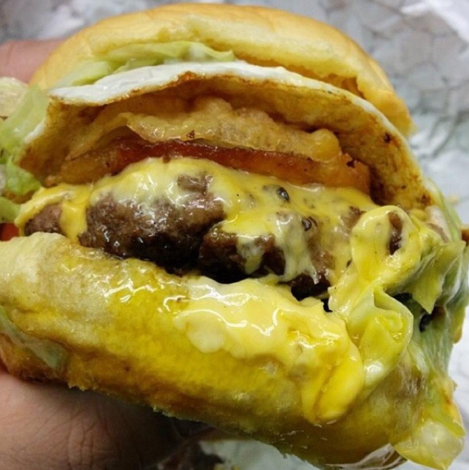 Namesake Burger (Pork Belly, Fried Onion Halves, Egg...) at Breakroom on #foodmento http://foodmento.com/place/3019