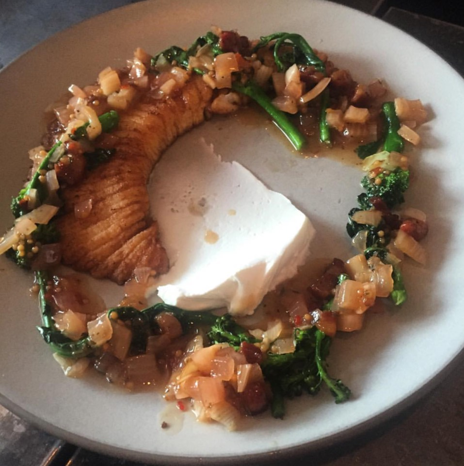 Skate Wing, Broccolini, Mascarpone... at Son of a Gun on #foodmento http://foodmento.com/place/4003