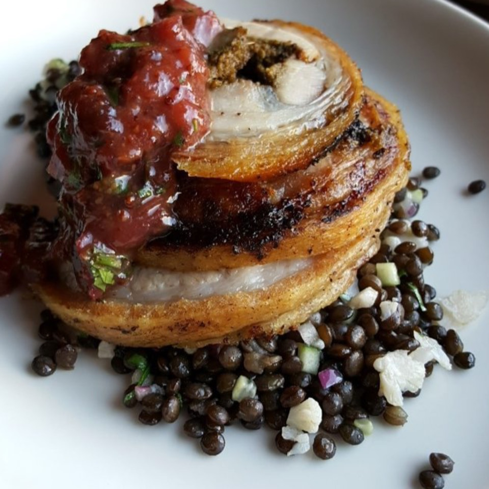 Porchetta, Lentils at Odys and Penelope (CLOSED) on #foodmento http://foodmento.com/place/8569