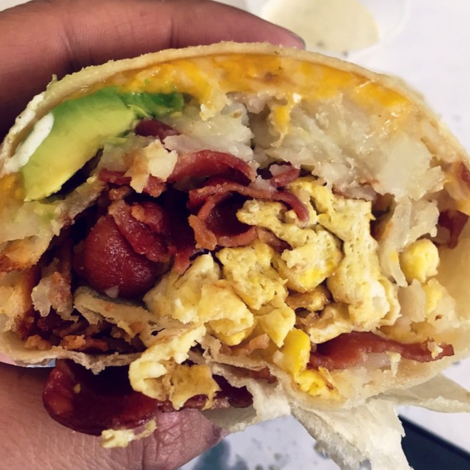 Bacon Breakfast Burrito at Lucky Boy on #foodmento http://foodmento.com/place/8581
