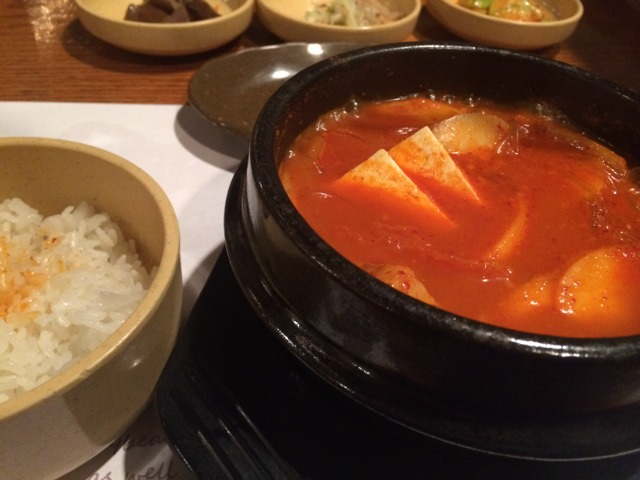 김치 찌개 (Kimchi stew) at Cho Dang Gol on #foodmento http://foodmento.com/place/2659
