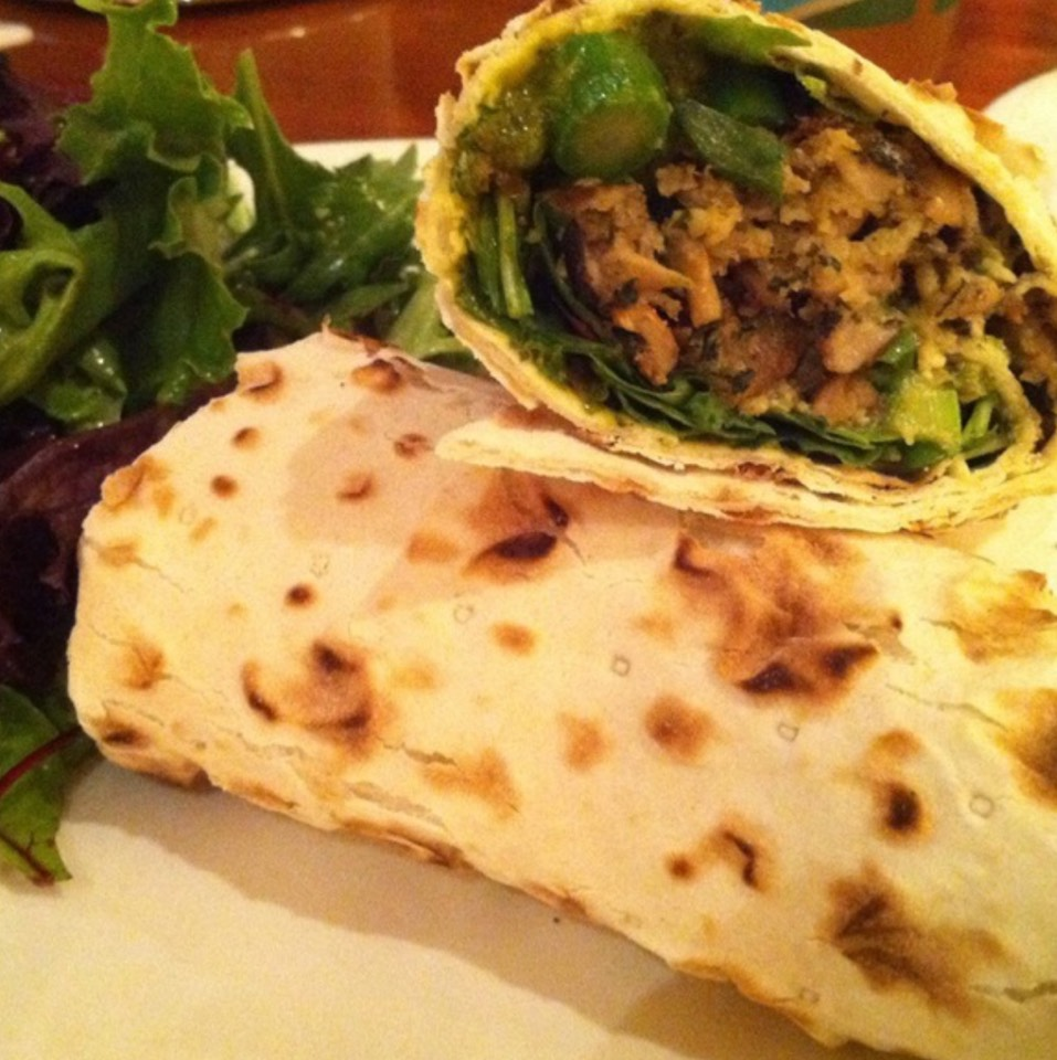 Mushroom Wrap, Green Harissa at Zaré at Fly Trap on #foodmento http://foodmento.com/place/509