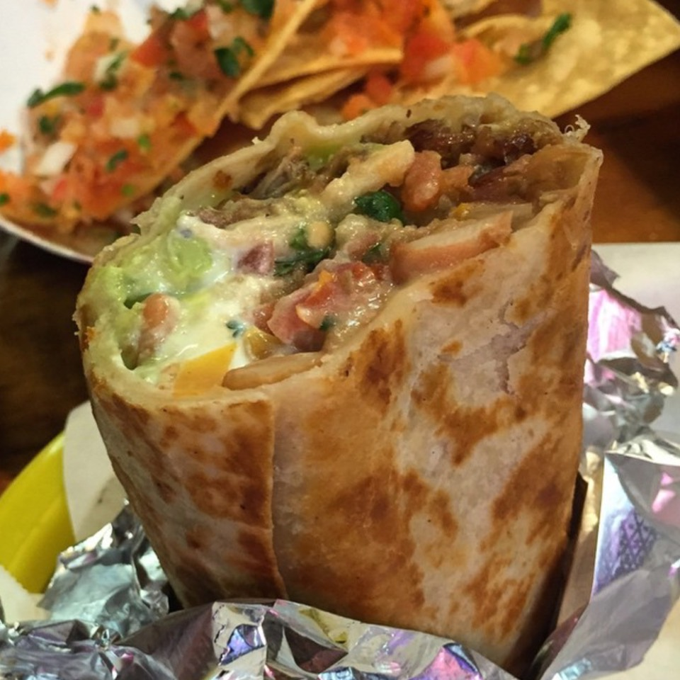 Super Burrito Dorado Carnitas at La Taqueria on #foodmento http://foodmento.com/place/560