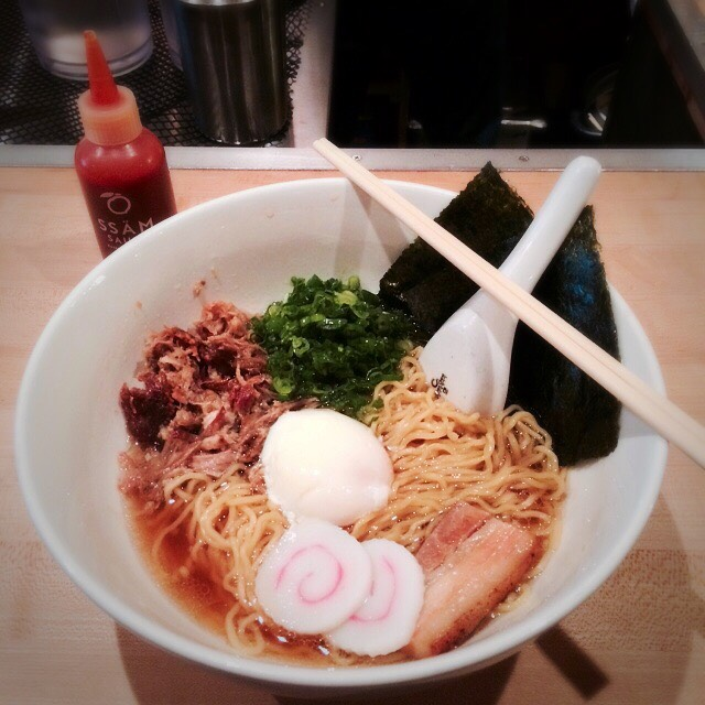Momofuku Ramen (Pork Belly, Pork Shoulder, Poached Egg) at Momofuku Noodle Bar on #foodmento http://foodmento.com/place/921
