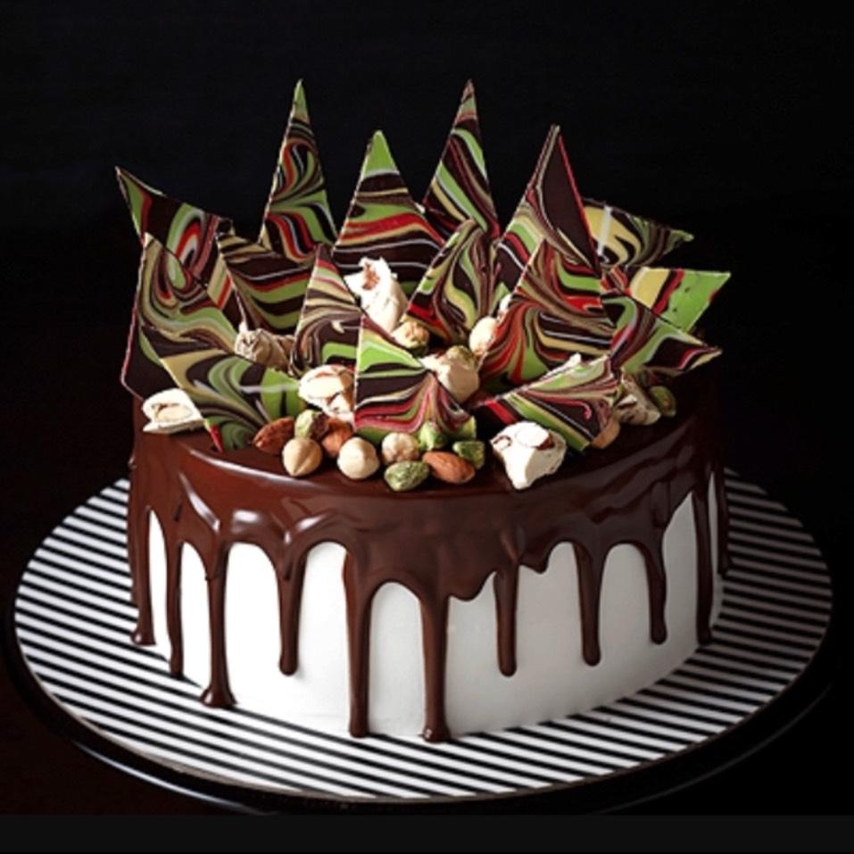 Chocolate Nuts N Nougat Cake from C'est La B on #foodmento http://foodmento.com/dish/33529