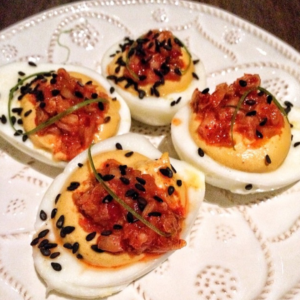 Kimchi Deviled Eggs at Faith & Flower on #foodmento http://foodmento.com/place/7170