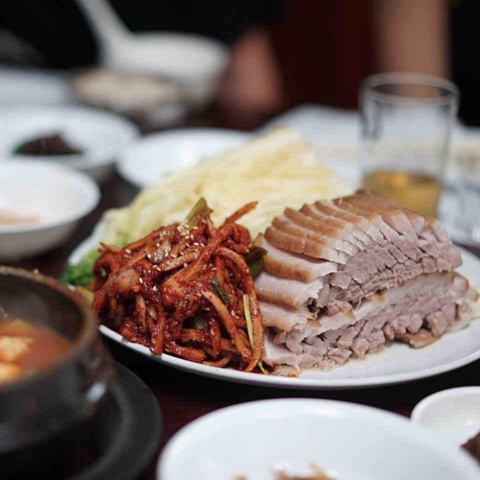 Bossam (Pork Belly) at Jun Won on #foodmento http://foodmento.com/place/8555