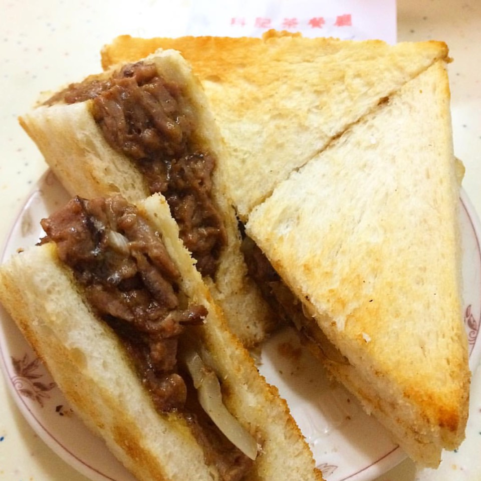 Beef Satay Sandwich at For Kee Restaurant 科記咖啡餐室 on #foodmento http://foodmento.com/place/8612