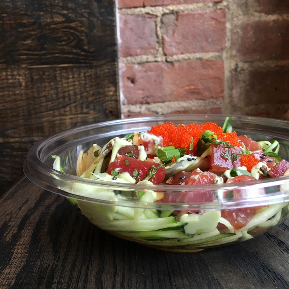 West Swell Poke Bowl With Zucchini Noodles, Ahi Tuna at Wisefish Poké on #foodmento http://foodmento.com/place/10028