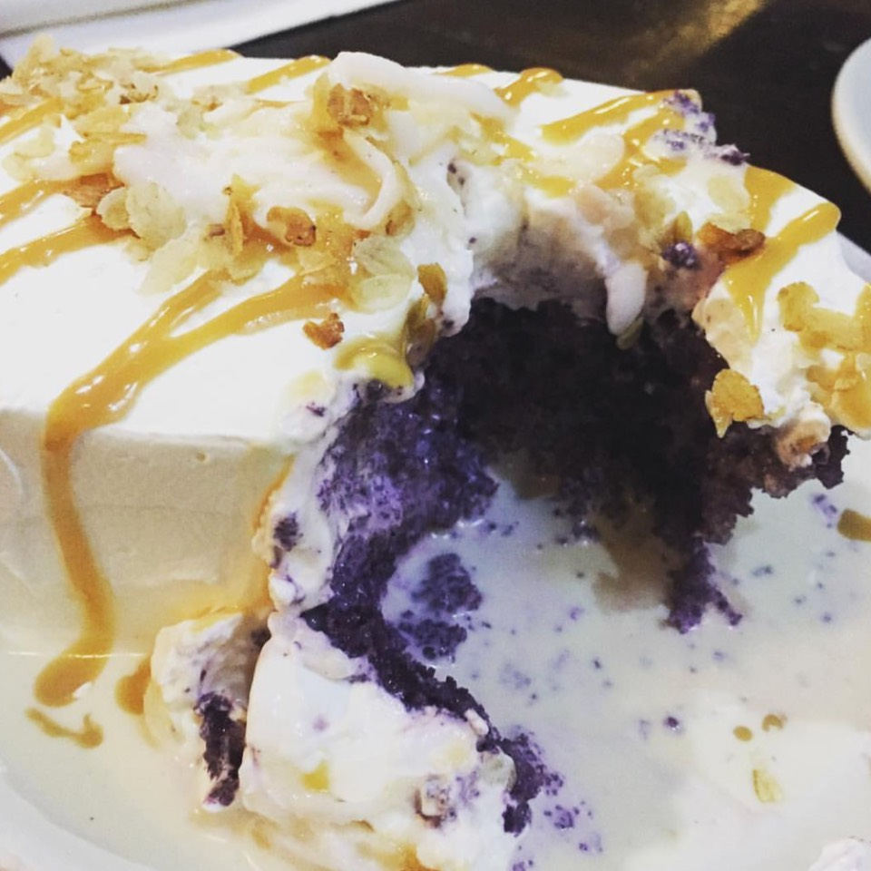 Ube Tres Leches Cake at House of Inasal on #foodmento http://foodmento.com/place/10316
