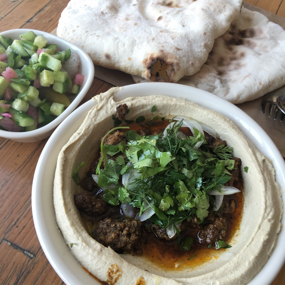 Beef Hummus at Dizengoff on #foodmento http://foodmento.com/place/10616