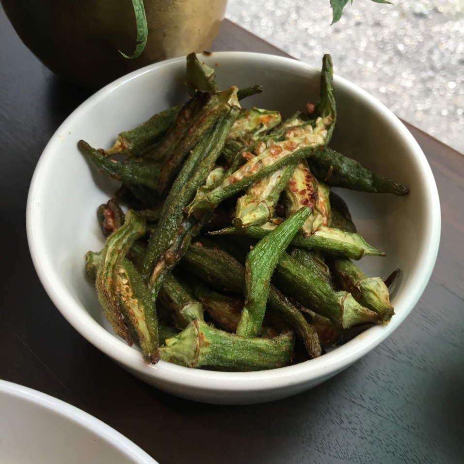 Spiced Okra at Pondicheri on #foodmento http://foodmento.com/place/10701