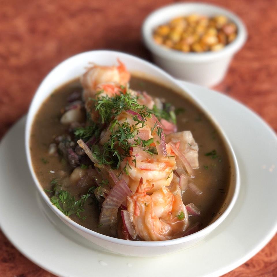 Ceviche Mixto Con Concha Negra (w/ black clams) at Ecuatoriana on #foodmento http://foodmento.com/place/10776