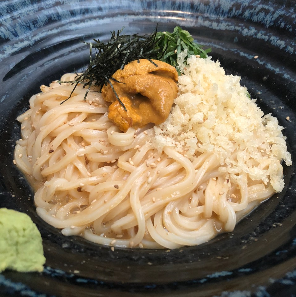 Uni Udon (Cold Udon Noodle)  at Tsurutontan on #foodmento http://foodmento.com/place/10830