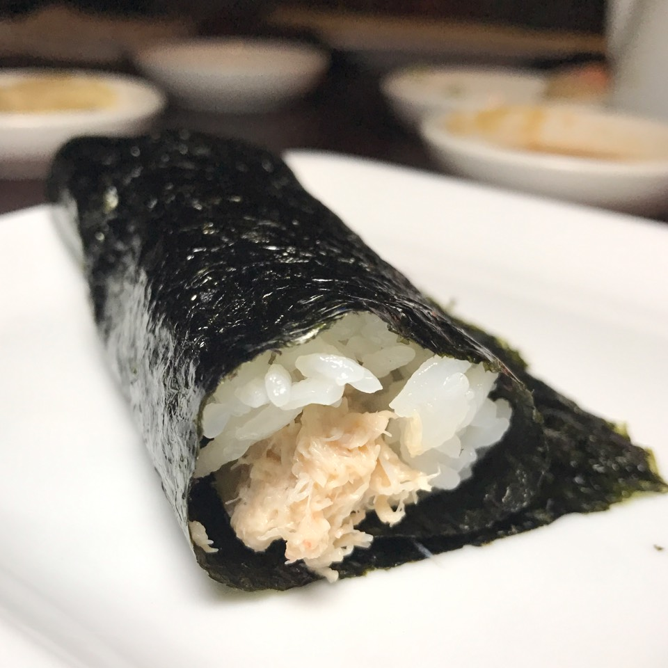 Blue Crab Hand Roll at SUGARFISH on #foodmento http://foodmento.com/place/10898