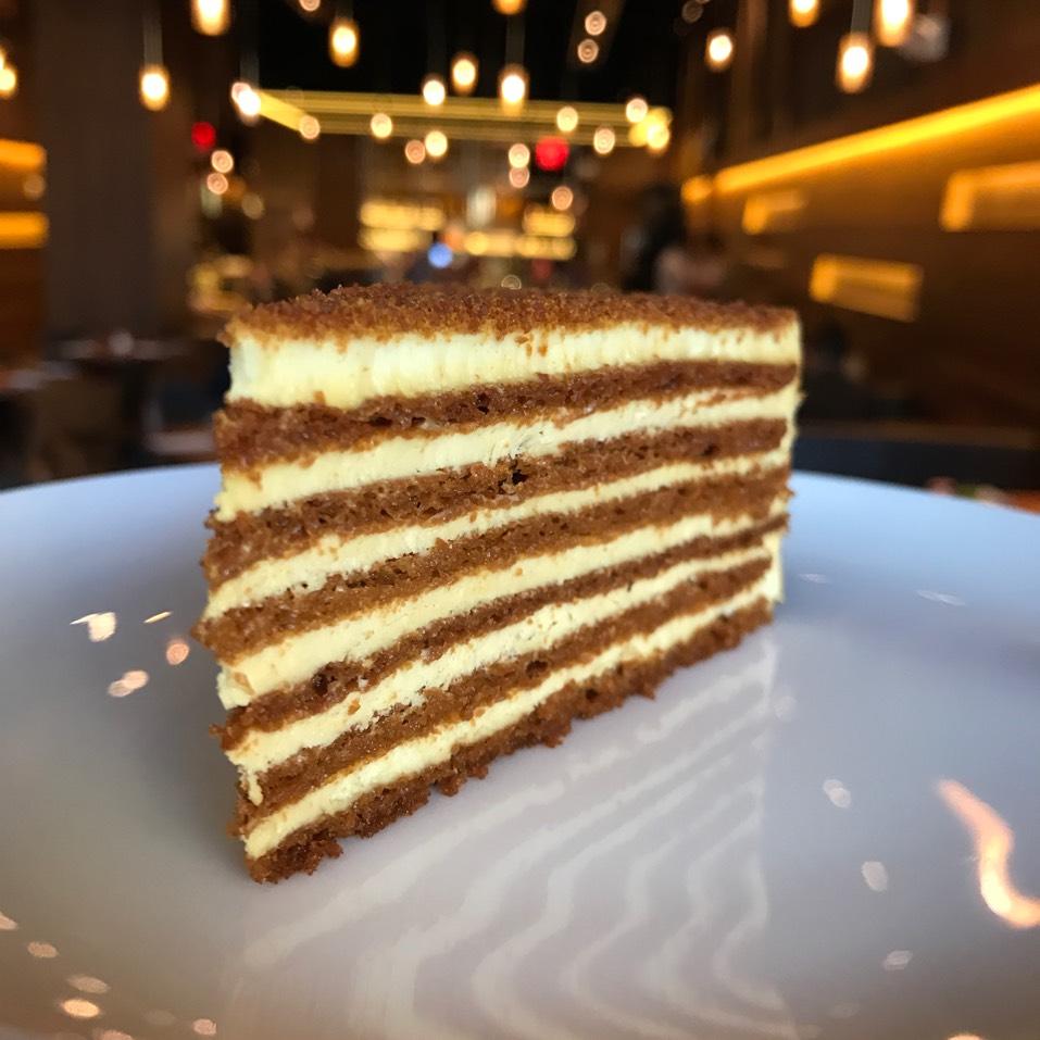Esterhazy (Almond Cake, Hazelnut Praline) at Coffeemania on #foodmento http://foodmento.com/place/11064