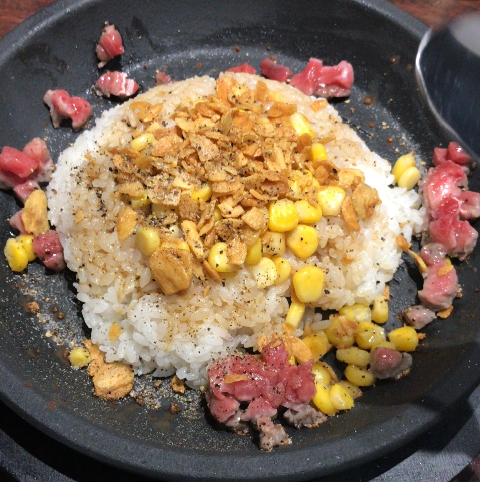 Garlic Pepper Rice at Ikinari Steak on #foodmento http://foodmento.com/place/11100