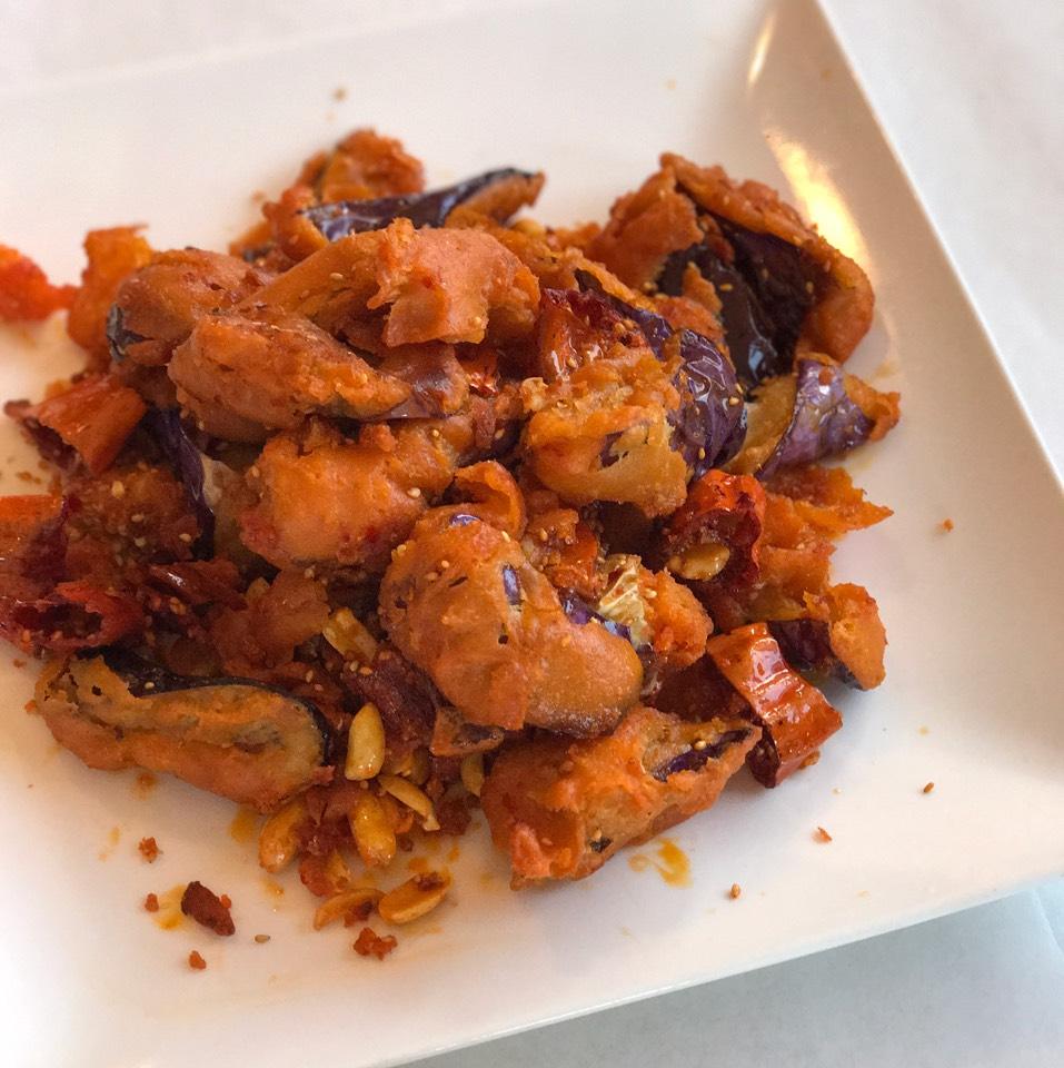 Szechuan Style Crispy Eggplant at Legend of Taste on #foodmento http://foodmento.com/place/11175