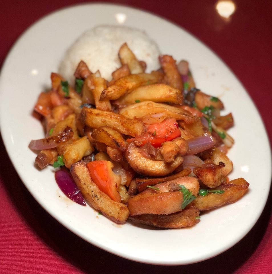 Saltado De Pollo (Chicken) at Mario's Peruvian & Seafood Restaurant on #foodmento http://foodmento.com/place/11988