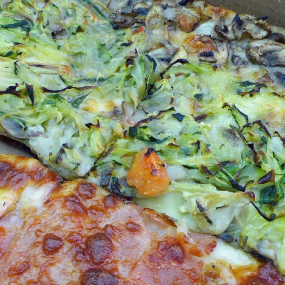 Zucchini Artichoke Pizza at my pie on #foodmento http://foodmento.com/place/12014