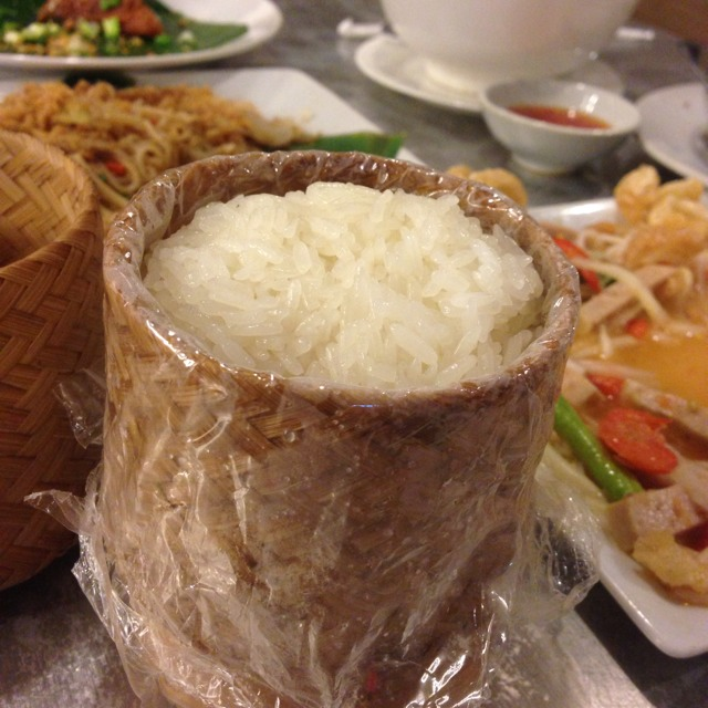 Sticky Rice at ส้มตำนัว (Som Tam Nua) on #foodmento http://foodmento.com/place/1209