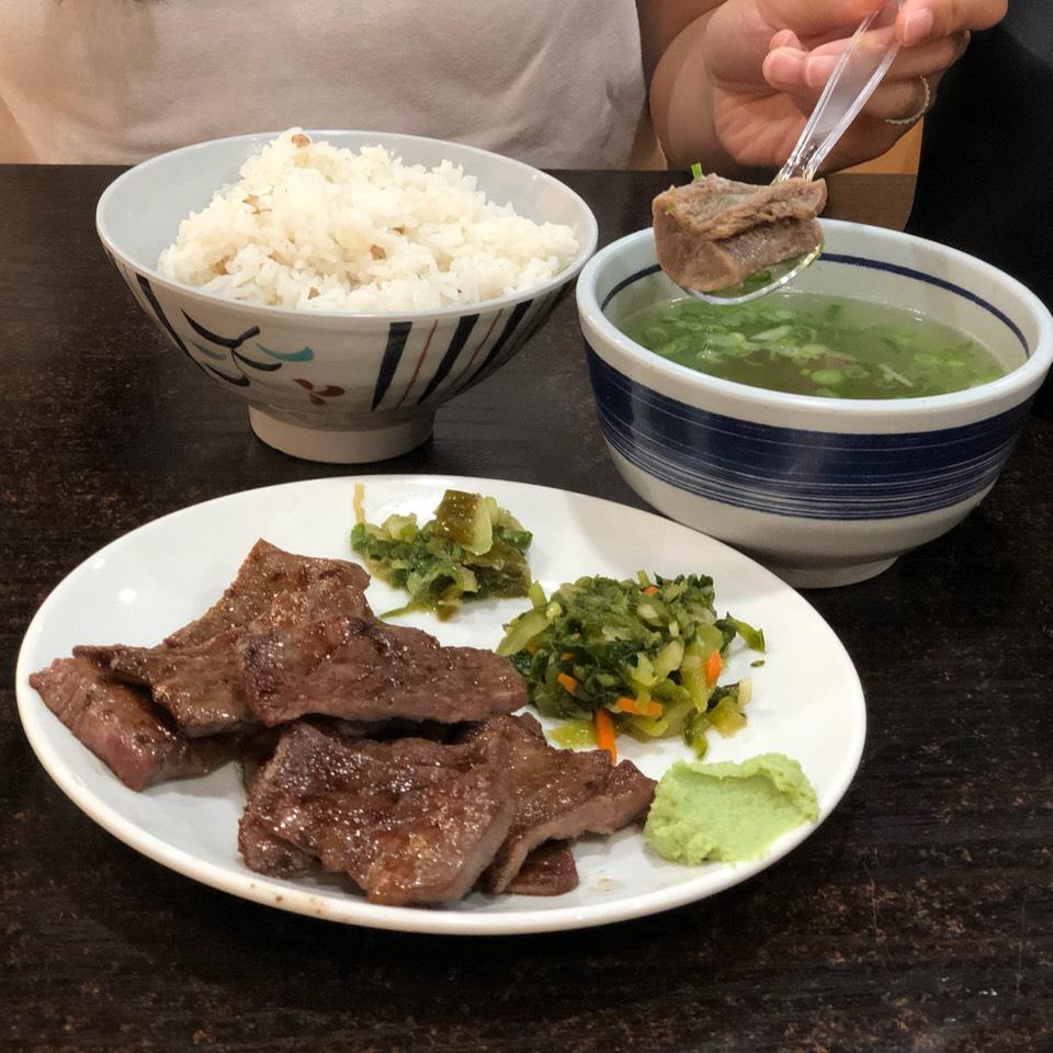 Gyutan Set (8 or 12) Grilled Beef Tongue  at Gyutan Tsukasa on #foodmento http://foodmento.com/place/12138
