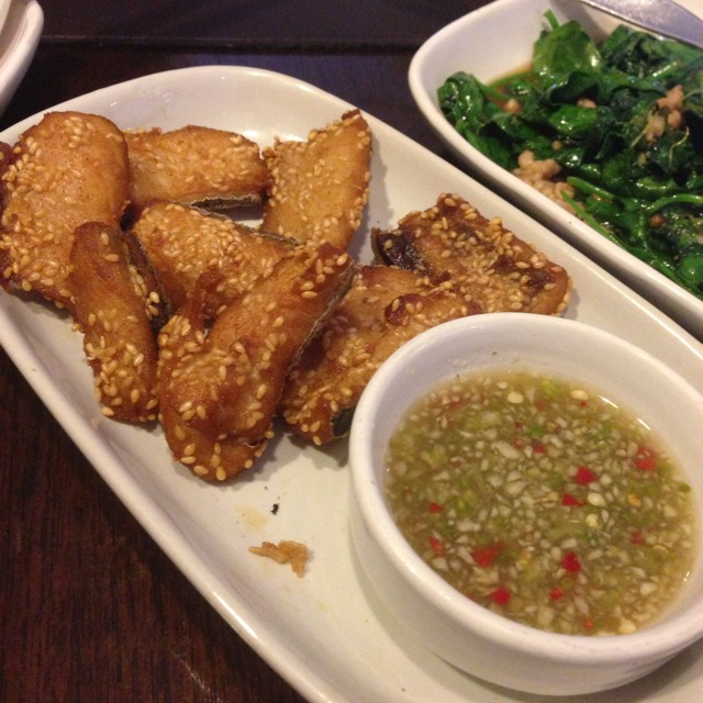 Sundried King Mackerel with Sesame Seeds at ตะลิงปลิง (Taling Pling) on #foodmento http://foodmento.com/place/1225
