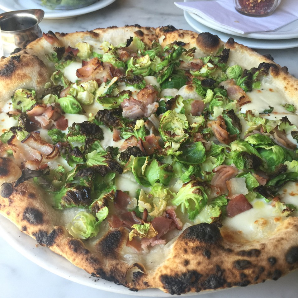 Brussels Sprouts & Pancetta Pizza at Motorino on #foodmento http://foodmento.com/place/1284
