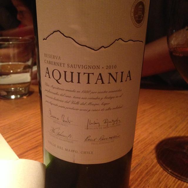 Aquitania (Cabernet Sauvignon 2010) - Chile at Mr Willis on #foodmento http://foodmento.com/place/1606