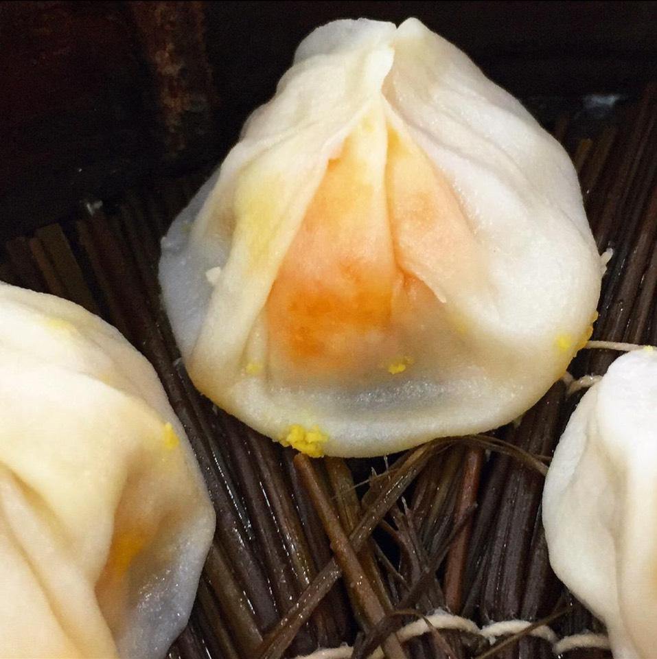 Pork And Salted Egg Yolk Soup Dumplings at 佳家汤包   Jia Jia Tangbao on #foodmento http://foodmento.com/place/1614