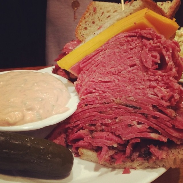 "The ""Woody Allen"" Sandwich (Pastrami & Corned Beef) at Carnegie Deli (CLOSED) on #foodmento http://foodmento.com/place/2458"