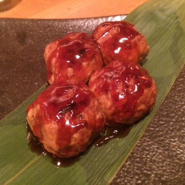 Tsukune (Minced Chicken Balls) at Sakagura on #foodmento http://foodmento.com/place/2510