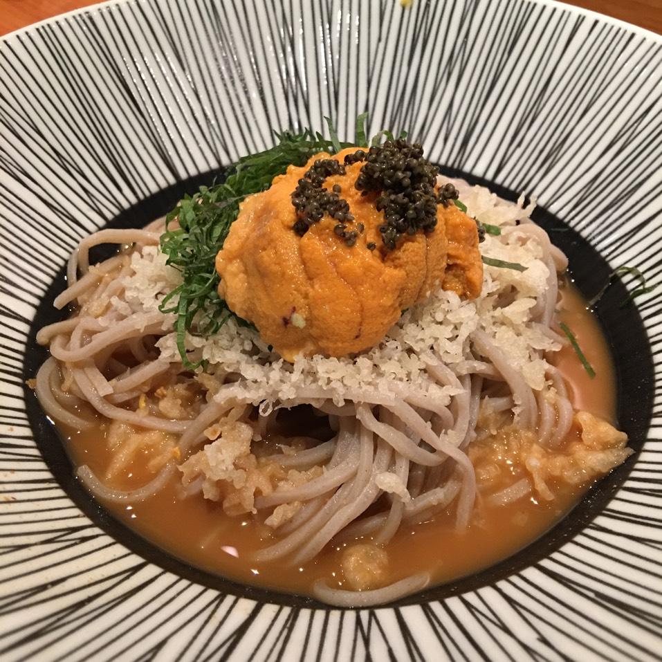 Uni Soba In Uni Broth at Sakagura on #foodmento http://foodmento.com/place/2510