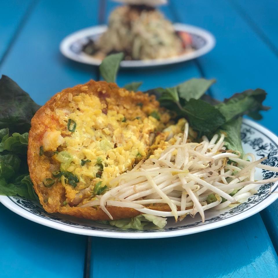Banh Xeo (Crispy Vietnamese Pancakes) at Bún-Ker on #foodmento http://foodmento.com/place/2620