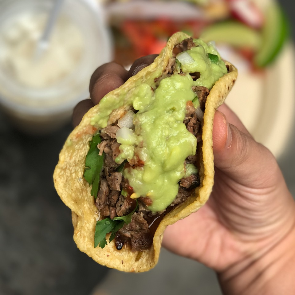 Carne Asada Taco (Grilled Steak) at Los Tacos No.1 on #foodmento http://foodmento.com/place/2840