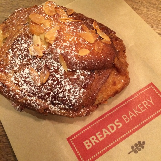 Chocolate Almond Croissant at Breads Bakery on #foodmento http://foodmento.com/place/2841