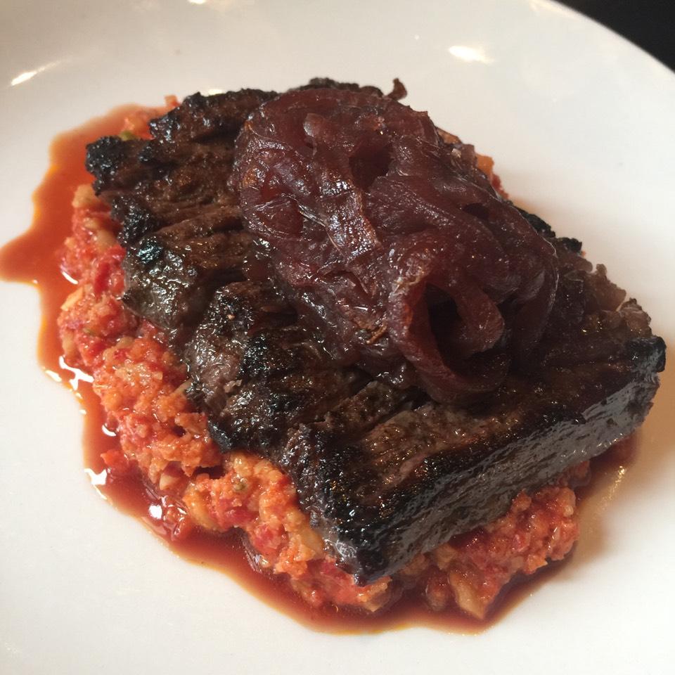 Skirt Steak with Romeso and Onion Mermelade at Casa Mono / Bar Jamon on #foodmento http://foodmento.com/place/289