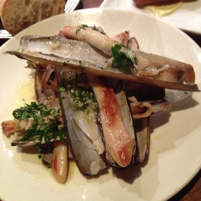 Razor Clams A La Plancha at Casa Mono / Bar Jamon on #foodmento http://foodmento.com/place/289