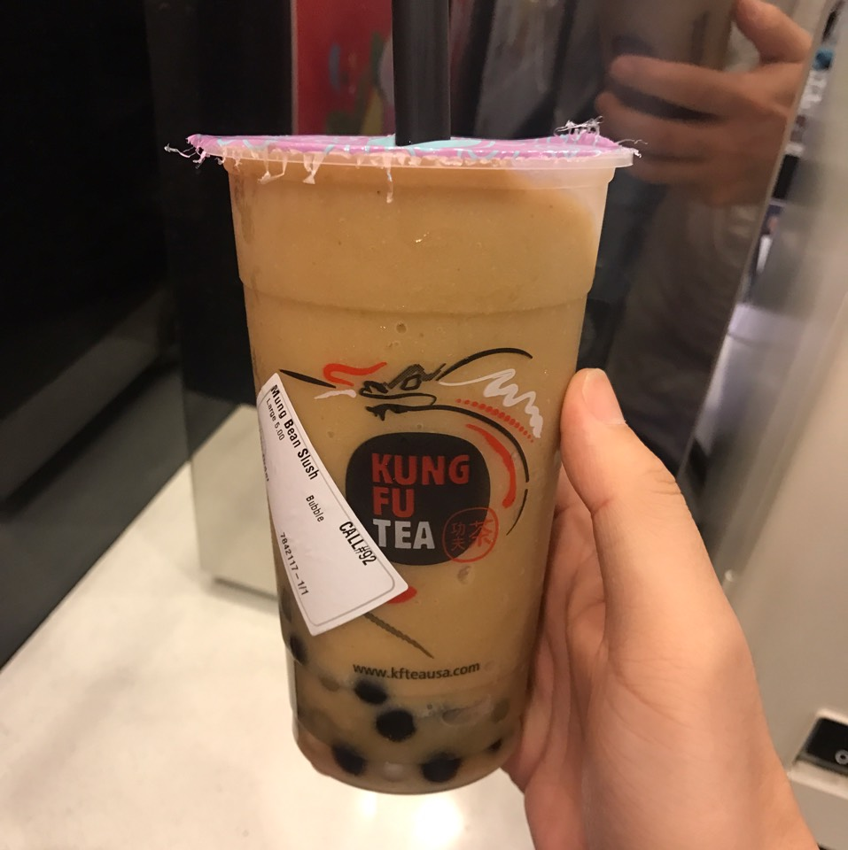 Mung Bean Slush With Bubbles at Kung Fu Tea (功夫茶) on #foodmento http://foodmento.com/place/2912