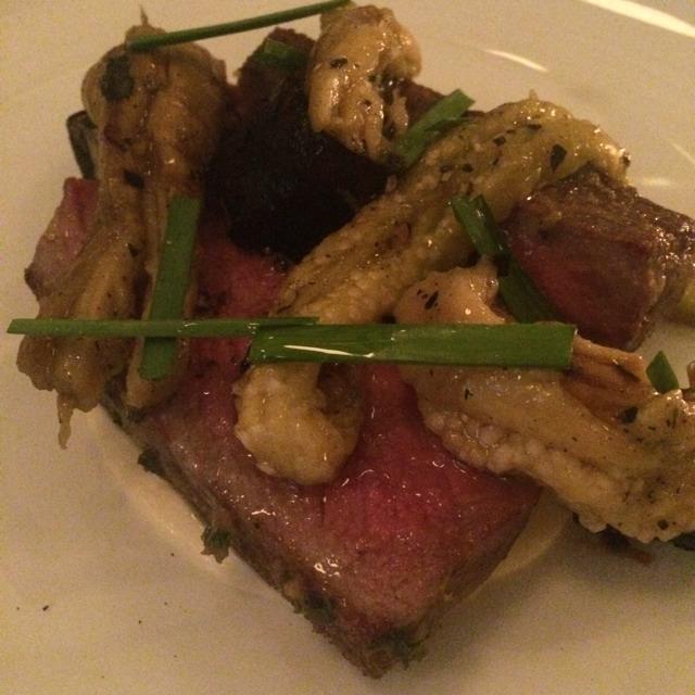 Beef With Eggplant, Leeks, Taleggio at Estela on #foodmento http://foodmento.com/place/3090