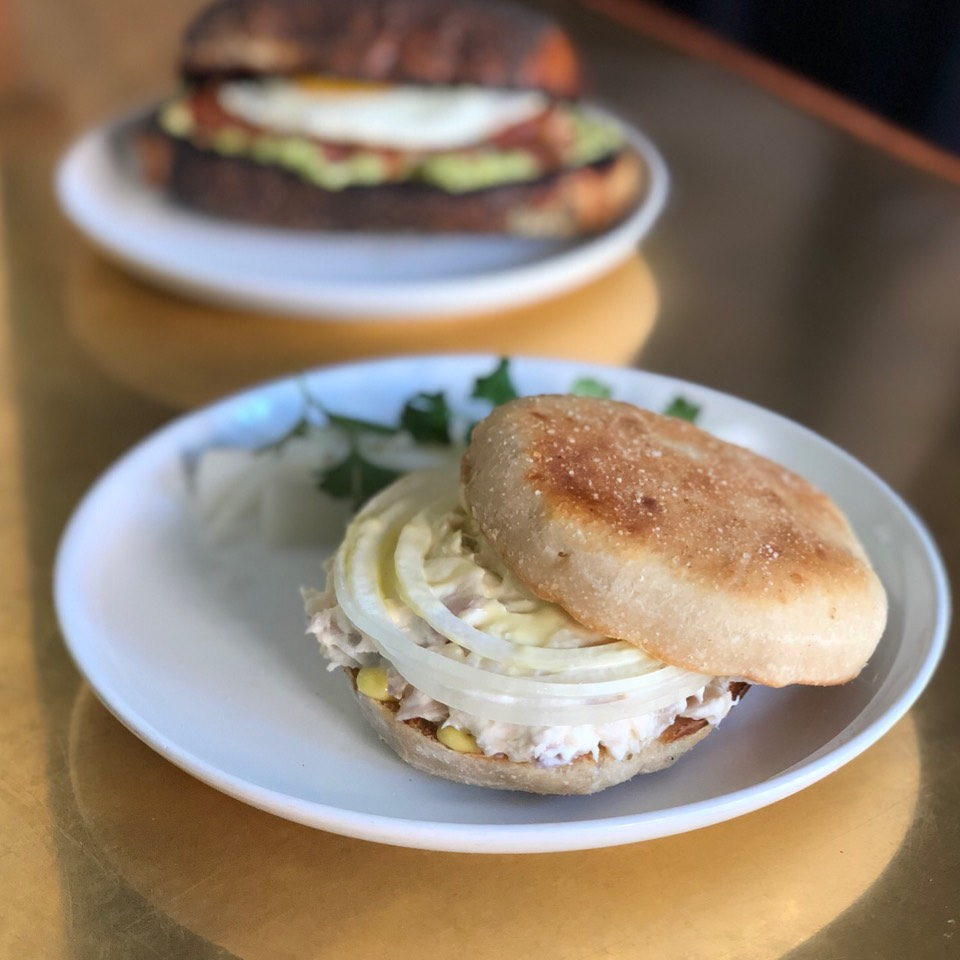 English Muffin, Smoked Whitefish, Trout Roe at Estela on #foodmento http://foodmento.com/place/3090