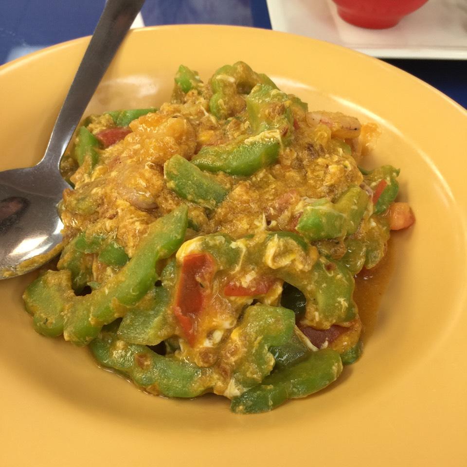 Ginisang Ampalaya (Sauteed Bitter Melon With Shrimp, Eggs) at Ihawan on #foodmento http://foodmento.com/place/3199