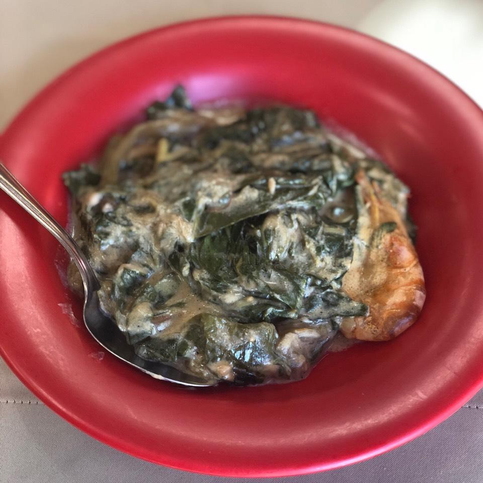 Laing (Taro Leaves & Shrimp In Coconut Milk at Ihawan on #foodmento http://foodmento.com/place/3199