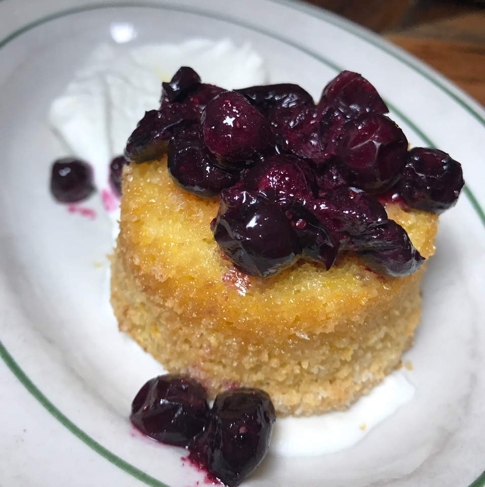 Olive Oil Cake (Blueberries) at Rosemary's Enoteca & Trattoria on #foodmento http://foodmento.com/place/3228