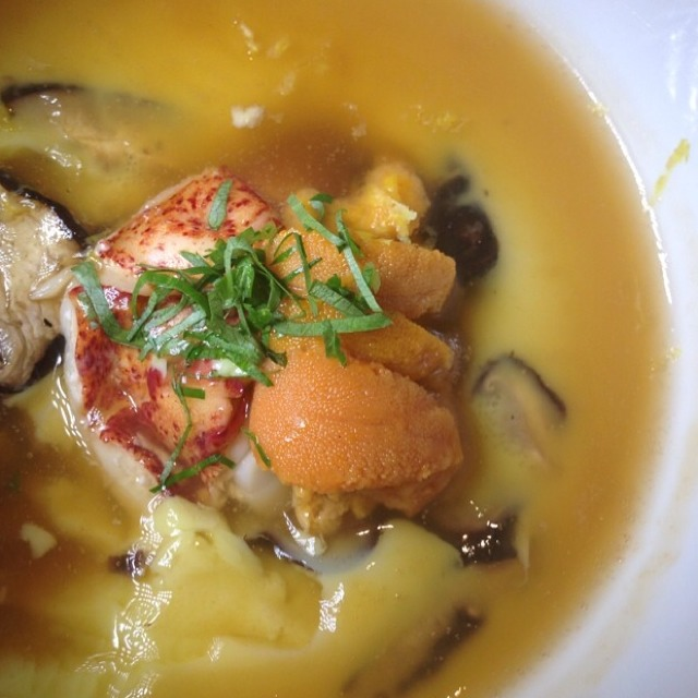 Chawan Mushi With Uni & Lobster at Ame on #foodmento http://foodmento.com/place/3287