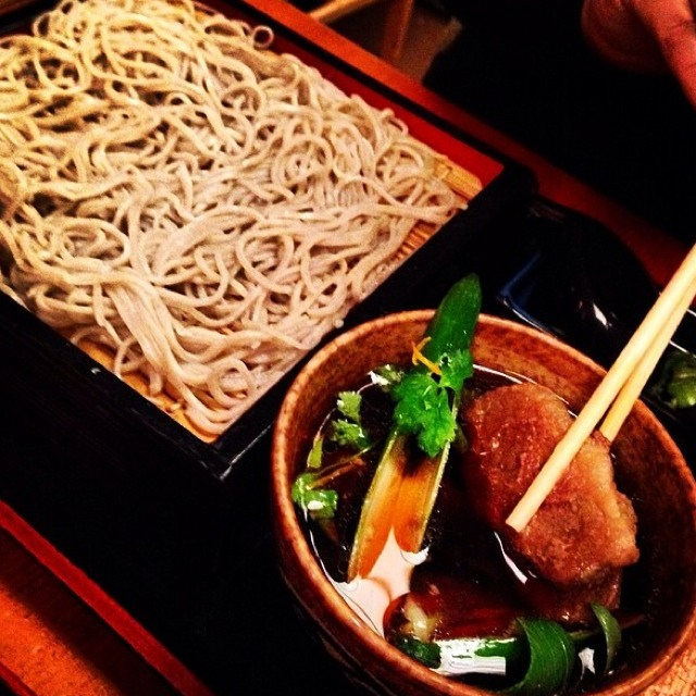 Kamo Seiro - Cold Homemade Soba With Sliced Duck at Sobaya on #foodmento http://foodmento.com/place/3327