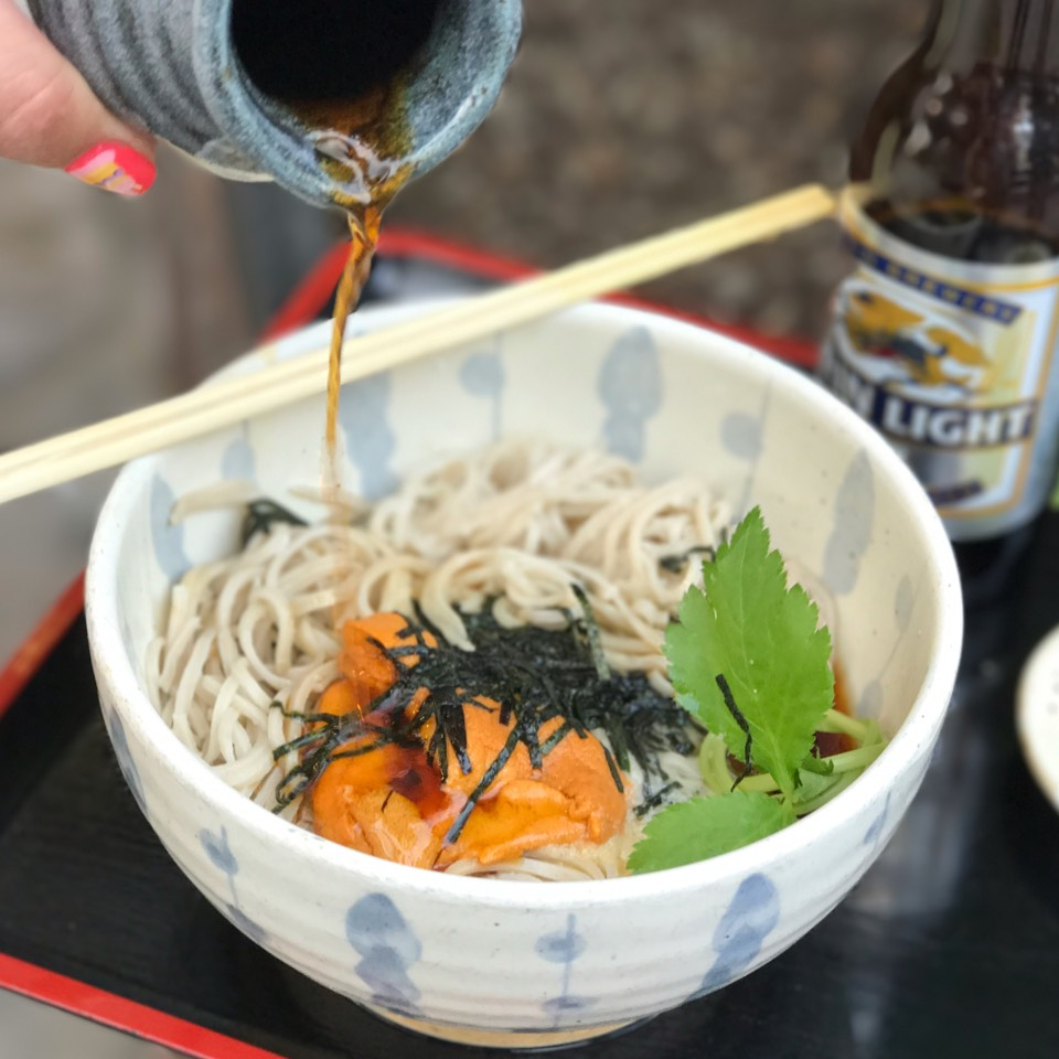 Uni - Cold Homemade Soba at Sobaya on #foodmento http://foodmento.com/place/3327