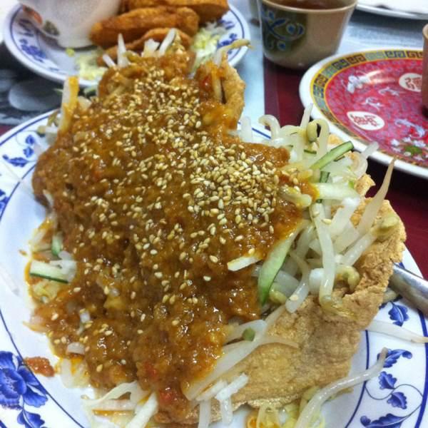 Tahu Goreng (Fried Bean Curd & Peanut Sauce) at Taste Good Malaysian Cuisine 好味 on #foodmento http://foodmento.com/place/337