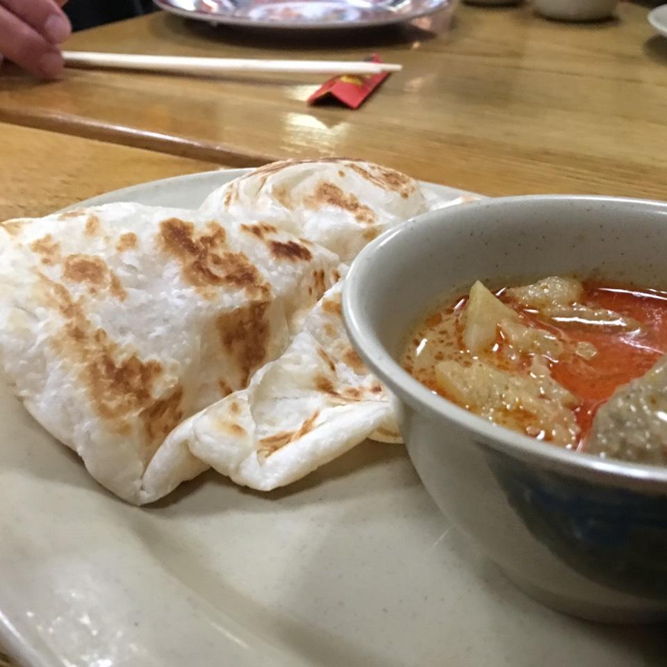 Roti Canai (Indian Pancake w Curry) at Taste Good Malaysian Cuisine 好味 on #foodmento http://foodmento.com/place/337